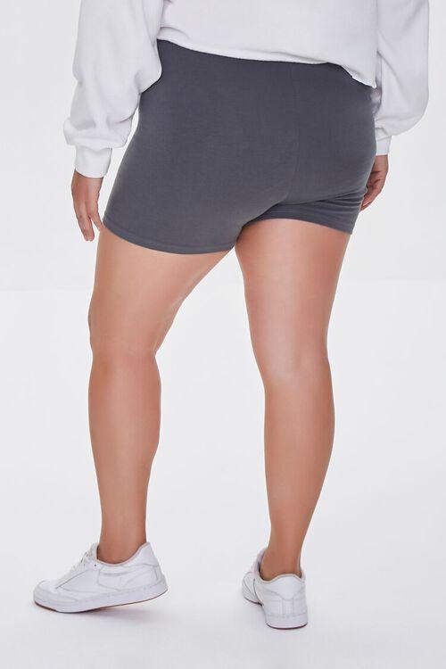 DARK GREY Plus Size Basic Organically Grown Cotton Hot Shorts, image 4
