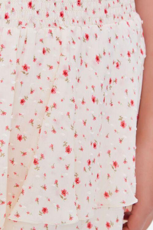 IVORY/MULTI Plus Size Ditsy Floral Skort, image 6