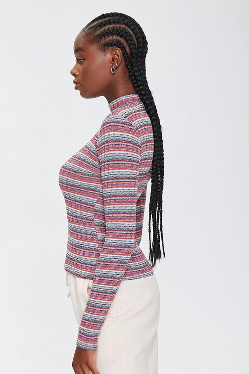 Striped Waffle Knit Top, image 2