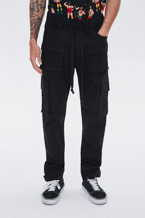 Cuffed Drawstring Cargo Pants, image 2