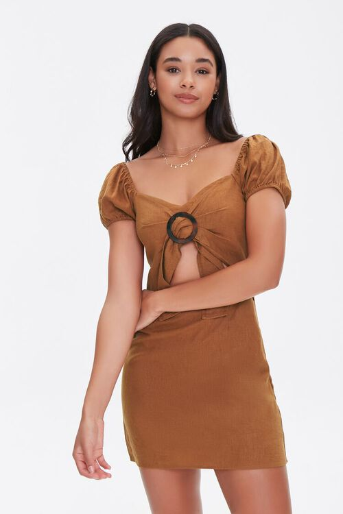 CHESTNUT Cutout Mini Dress, image 1