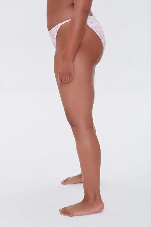 Plus Size Floral Print String Bikini Bottoms, image 3
