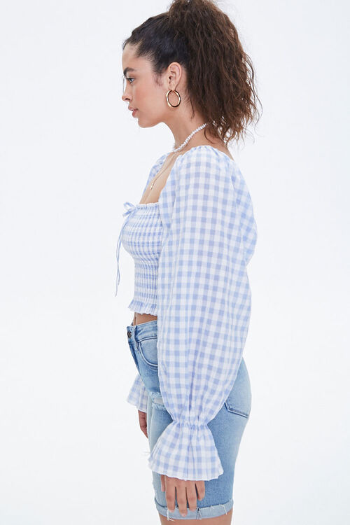 Smocked Gingham Top, image 2