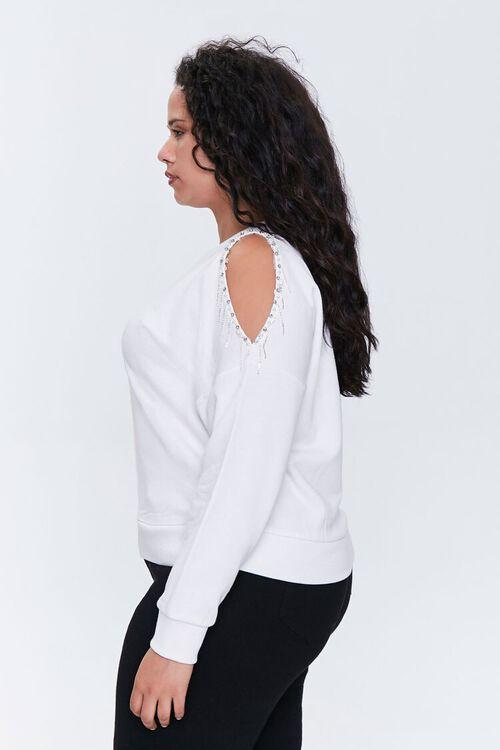 Plus Size Beaded Open-Shoulder Top, image 2