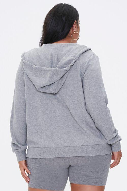 Plus Size Drawstring Zip-Up Hoodie, image 3