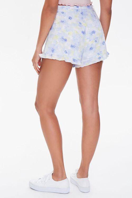 Floral Print Ruffle-Trim Shorts, image 4