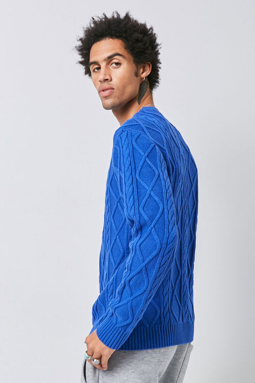 Cable-Knit Crew Neck Sweater, image 2