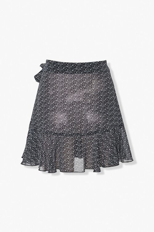 Dotted Ruffle-Trim Skirt, image 3