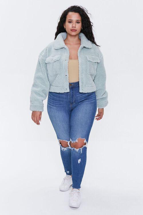 Plus Size Faux Shearling Jacket, image 4