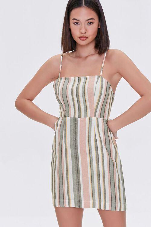Striped Mini Cami Dress, image 2