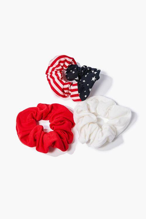 RED/WHITE American Flag Scrunchie Set, image 1