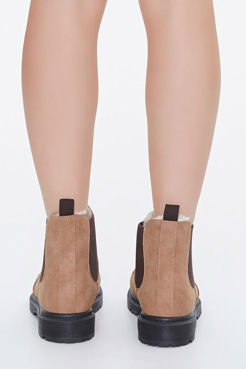 Faux Shearling Chelsea Booties, image 3