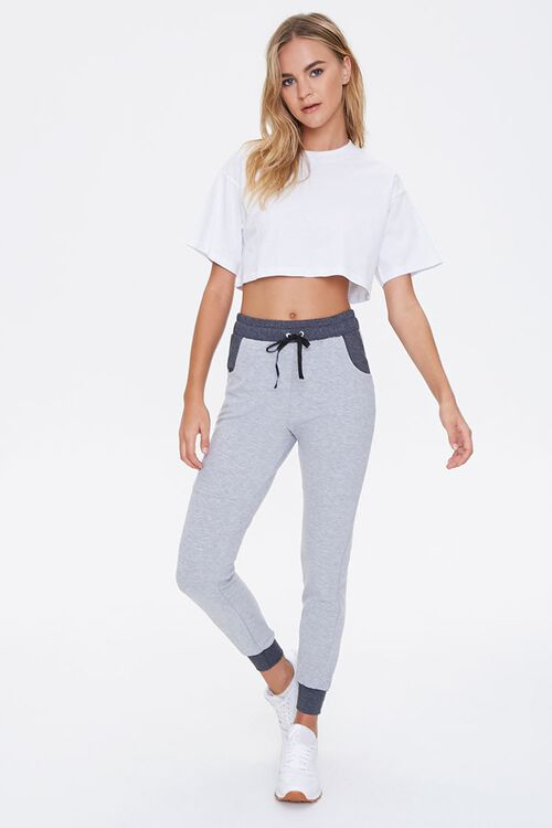 Active Heathered Knit Joggers, image 1
