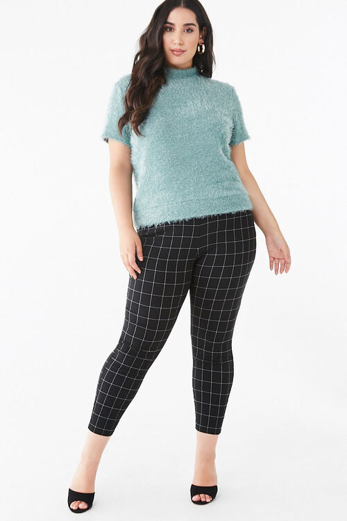 Plus Size Feathered Knit Tee, image 4