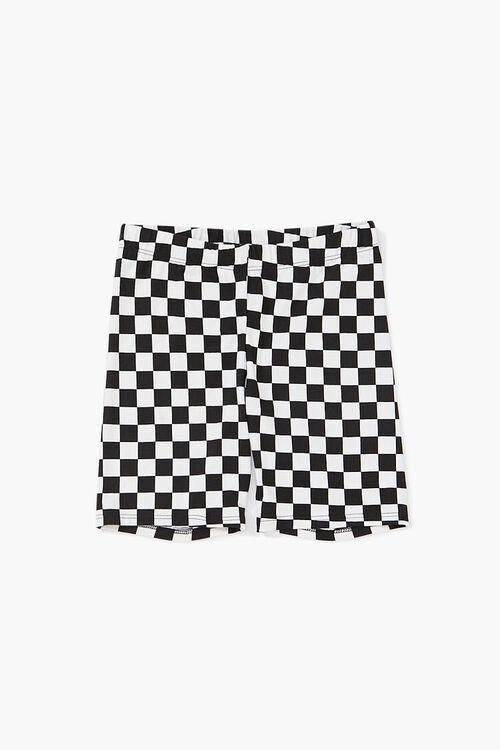 Girls Checkered Print Shorts (Kids), image 1