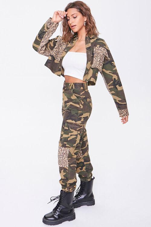 Camo Leopard Print Patternblock Jacket, image 4
