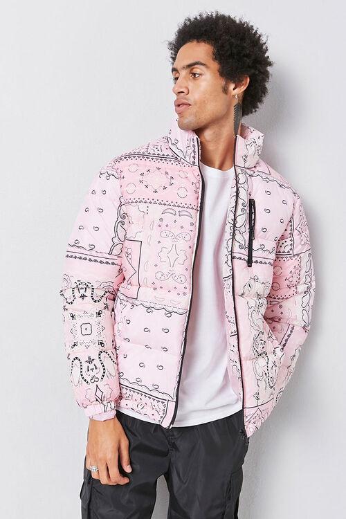 Bandana Print Puffer Jacket, image 4