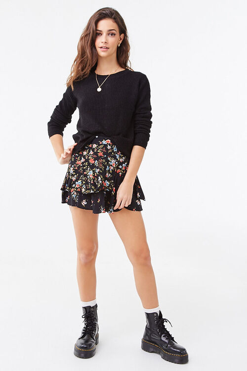 Ribbed Lace-Up Sweater, image 4