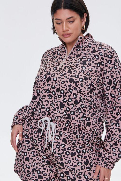 Plus Size Leopard Print Jacket, image 5