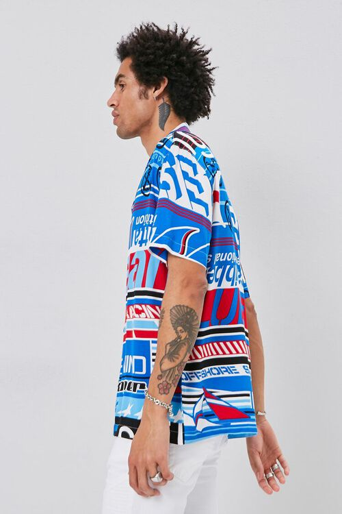 BLUE/MULTI Classic Fit Graphic Shirt, image 2