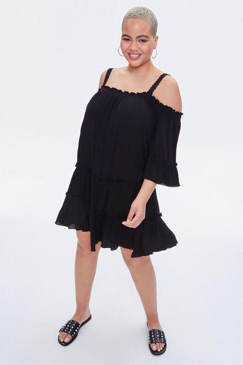 Plus Size Off-the-Shoulder Mini Dress, image 4