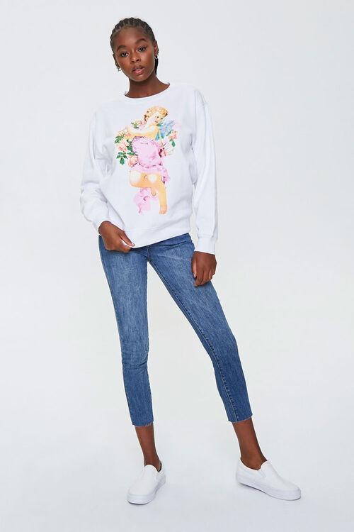 WHITE/MULTI Angel Graphic Pullover, image 4