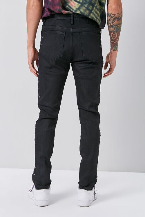Lace-Up Skinny Jeans, image 4