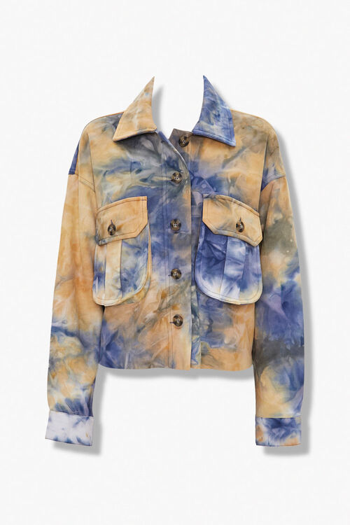Tie-Dye Button-Front Jacket, image 1