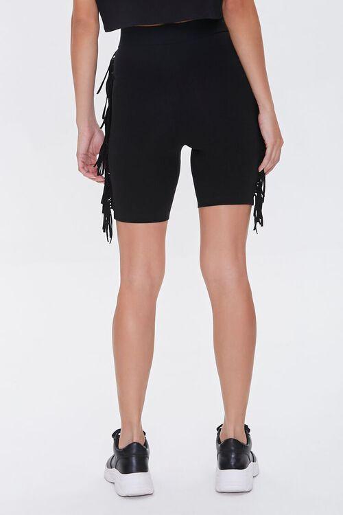 Fringe-Trim Biker Shorts, image 4