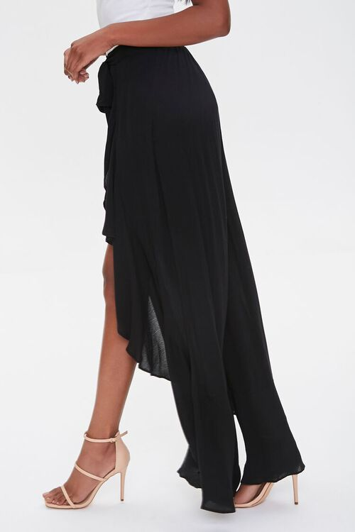 Crinkled Wrap-Front Ruffle-Trim Pants, image 3