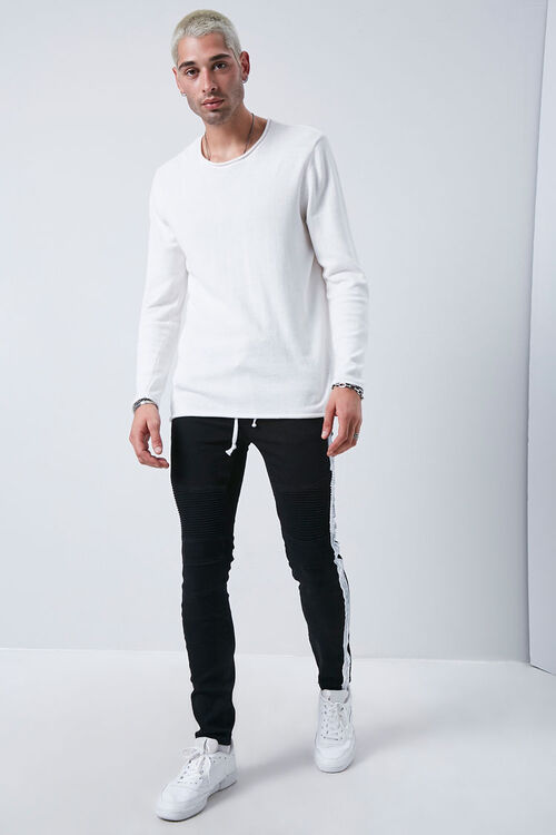 Side-Striped Skinny Jeans, image 5