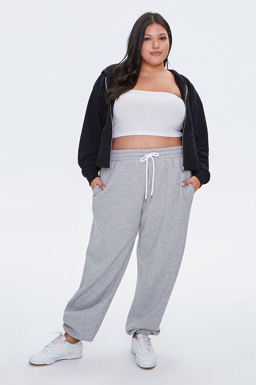 Plus Size French Terry Zip-Up Hoodie, image 4