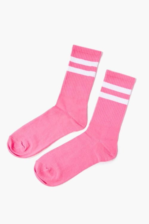 Varsity-Striped Crew Socks, image 2