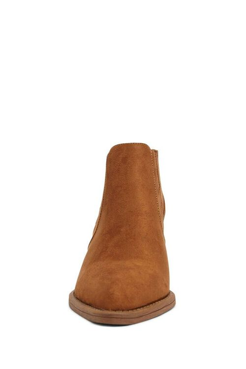 BROWN Faux Suede Chelsea Boots, image 3