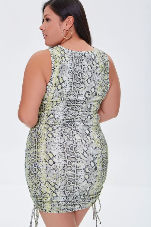 Plus Size Snakeskin Print Bodycon Dress, image 3