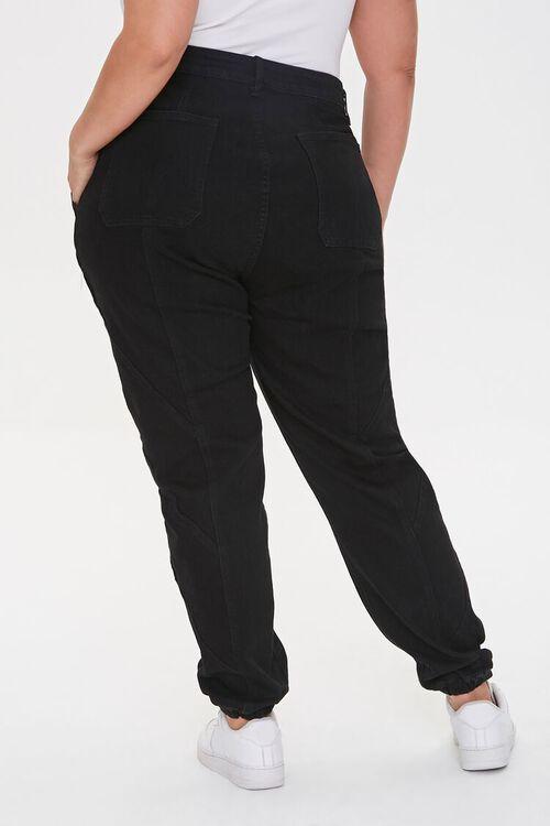 Plus Size Distressed Denim Joggers, image 4