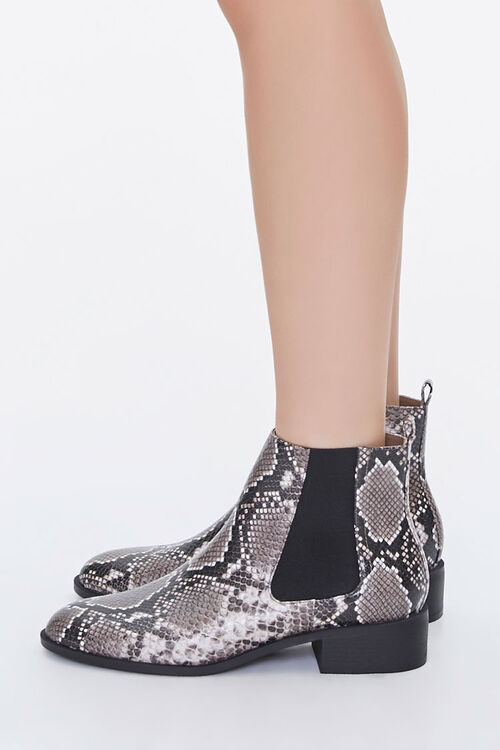 Faux Snakeskin Chelsea Boots, image 2