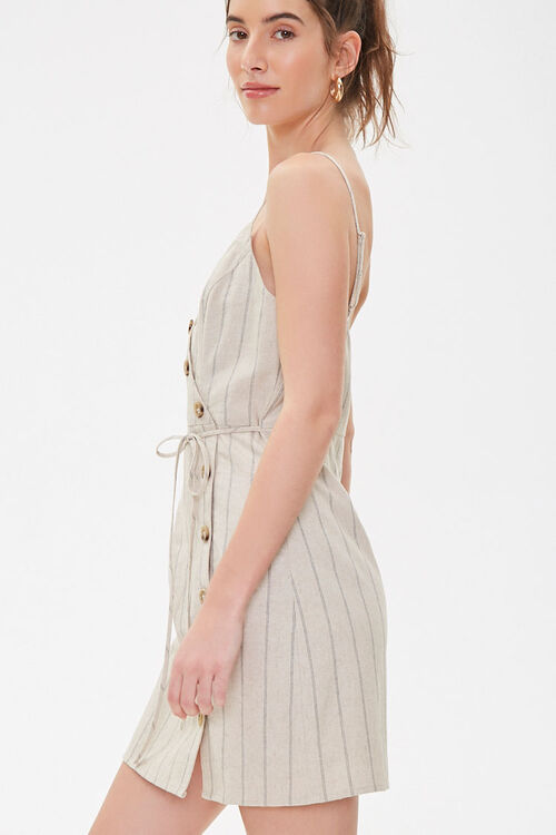 Striped Linen Cami Dress, image 2