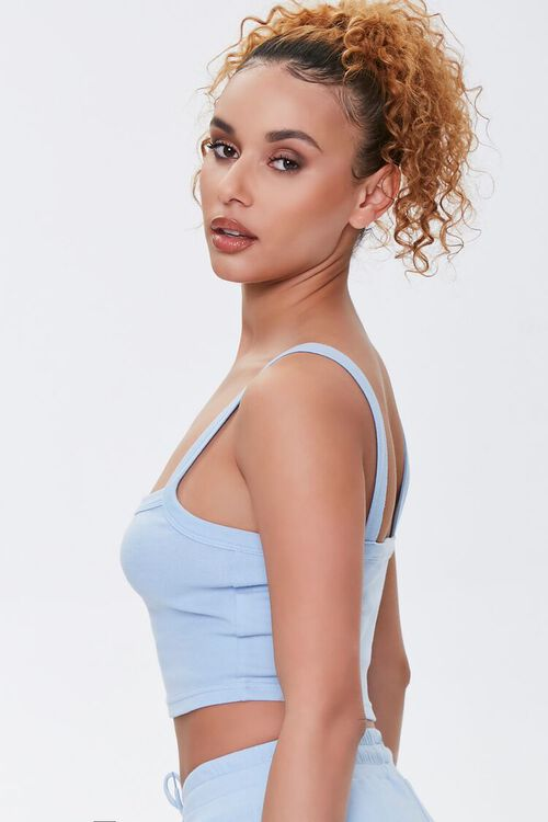 Straight-Neck Cropped Cami, image 2