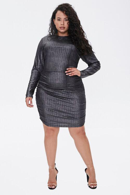 Plus Size Metallic Bodycon Dress, image 4