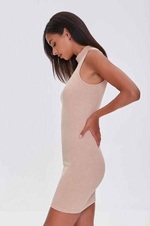 TAUPE Seamless Ribbed Bodycon Tank Dress, image 2