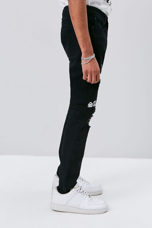 Cross Graphic Skinny Jeans, image 3