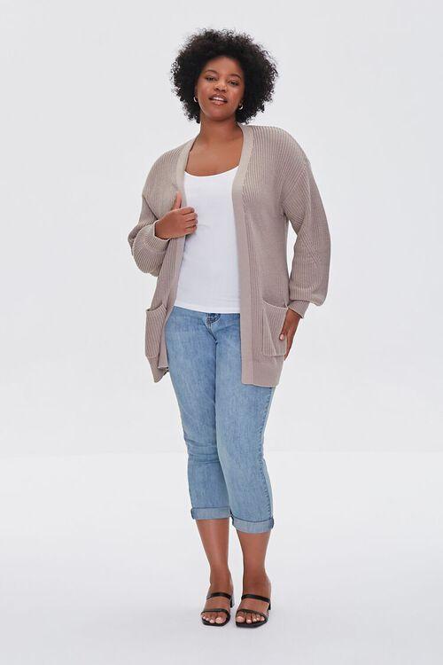 Plus Size Patch-Pocket Cardigan Sweater, image 4