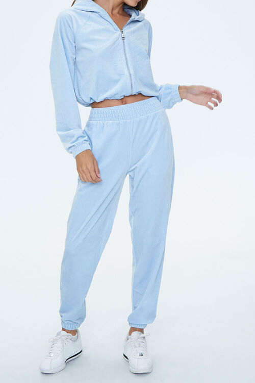 Velour High-Rise Joggers, image 1