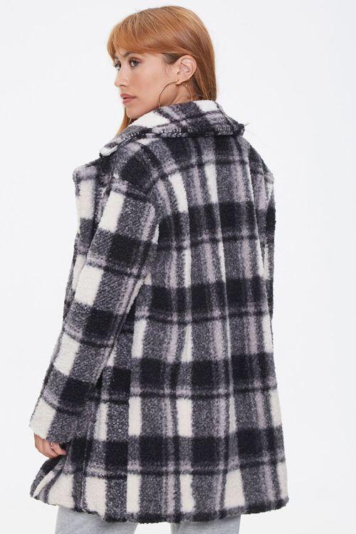 Faux Shearling Plaid Coat, image 3