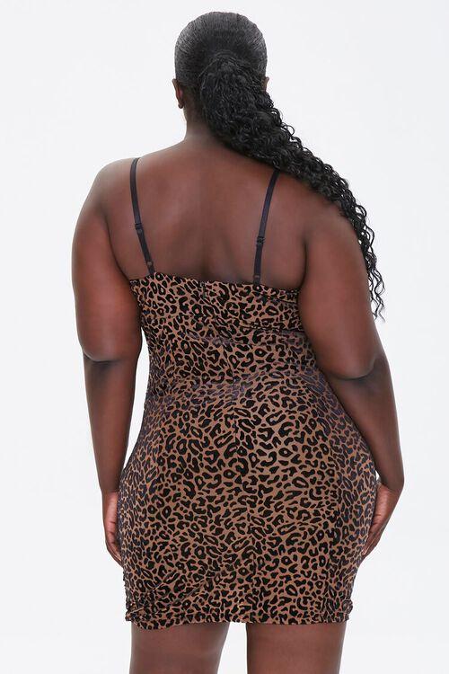 Plus Size Velvet Leopard Dress, image 3