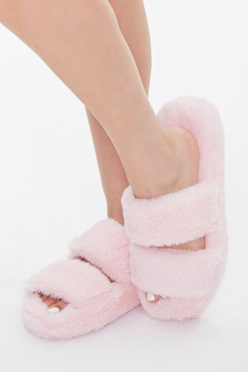 Plush Faux Fur Slippers, image 1