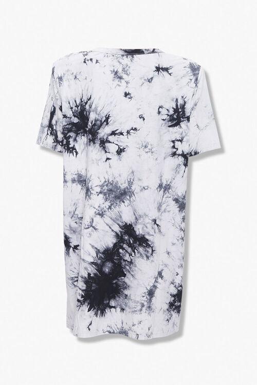 BLACK/CREAM Tie-Dye Shoulder Pad T-Shirt Dress, image 2
