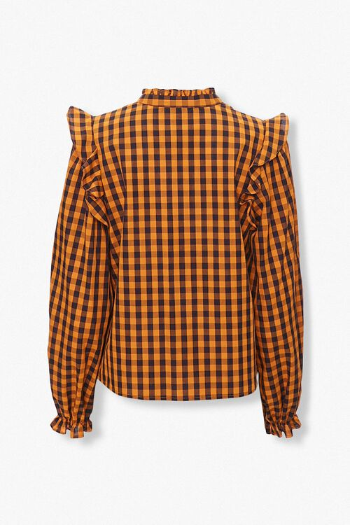 Gingham Ruffle-Trim Shirt, image 2
