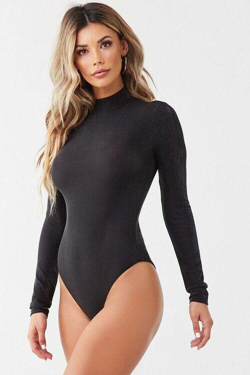 Metallic Knit Bodysuit, image 6